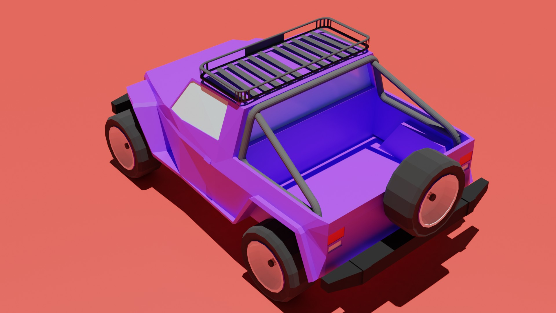 Low poly jeep preview image 2