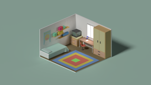 Low-poly rooms preview image