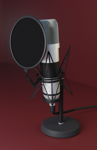 Studio Microphone | Rigged preview image