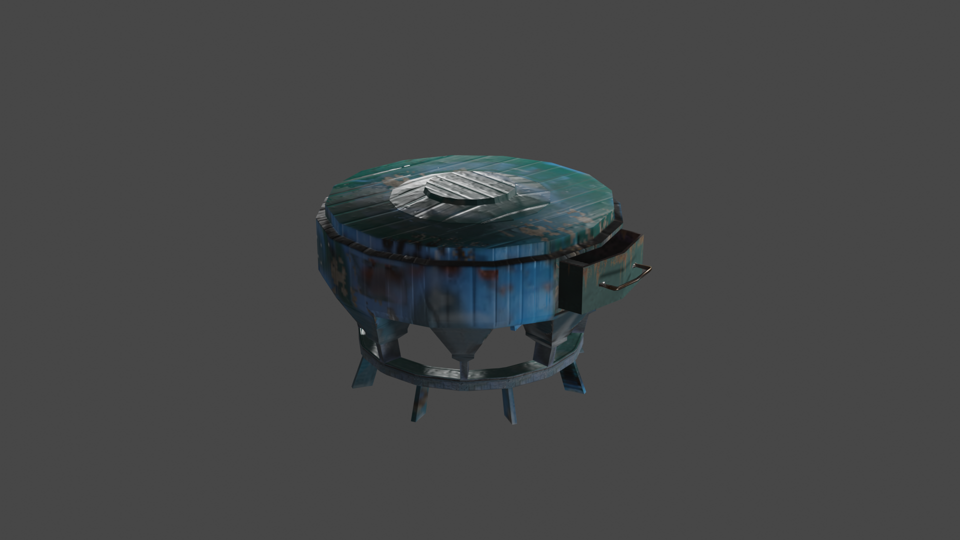 DUSTY SIDE-TABLE  (LOW POLY) preview image 1