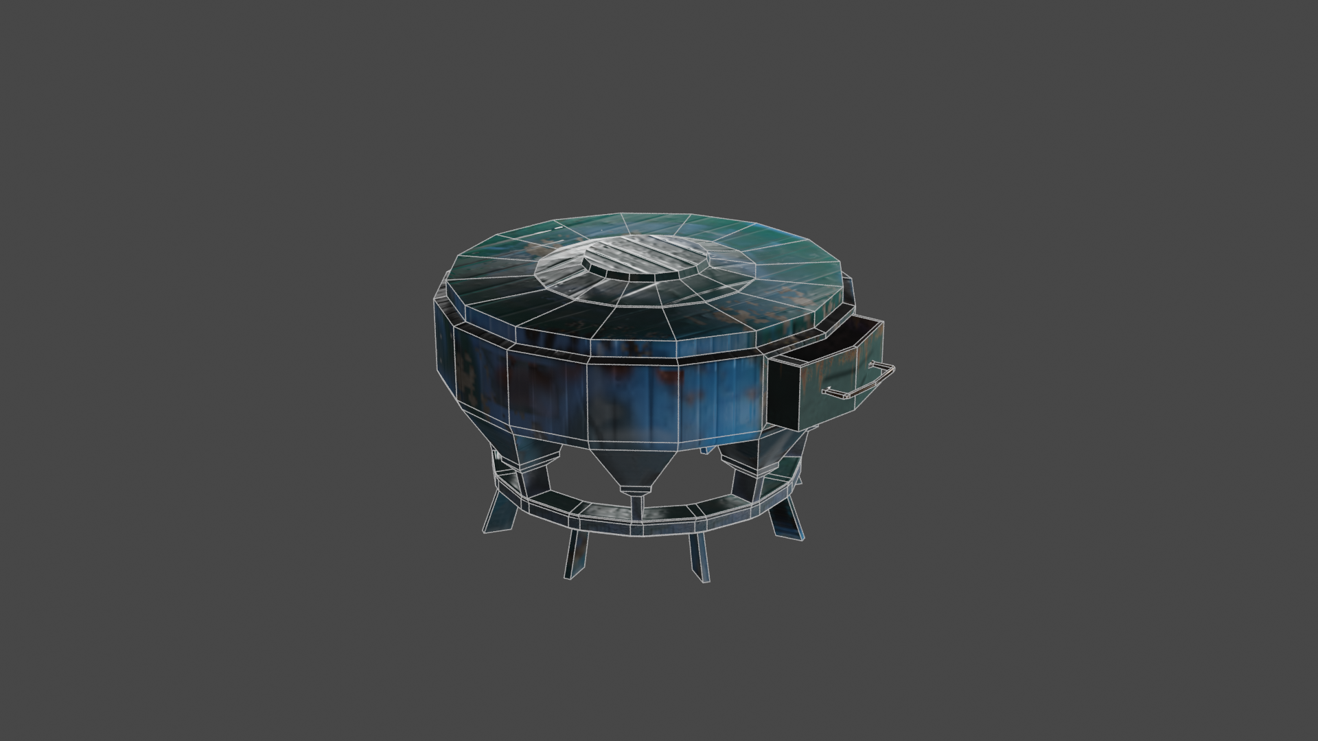 DUSTY SIDE-TABLE  (LOW POLY) preview image 2