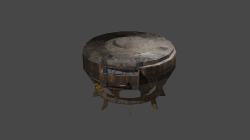DUSTY SIDE-TABLE  (LOW POLY) preview image