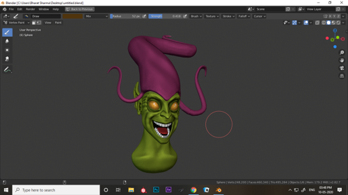 green goblin head sculpt preview image