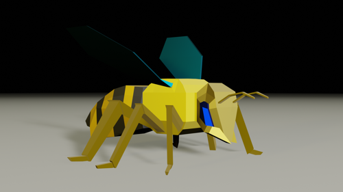 Low Poly Rigged Bee preview image