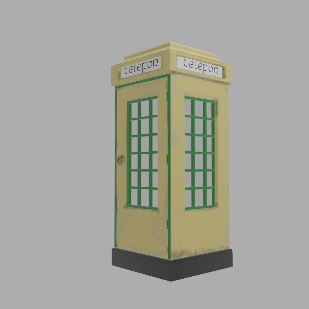 Old Irish Phone Box preview image 1