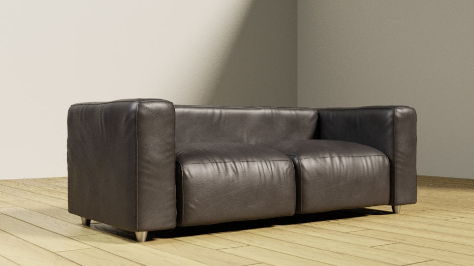 Leather couch preview image 1