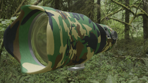 Canon camo camera lens preview image