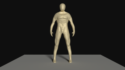 Gluteus Maximus (Man Character Base) preview image