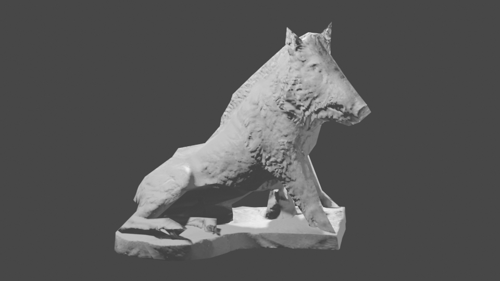 SEATED WILD BOAR (LOW POLY)  preview image