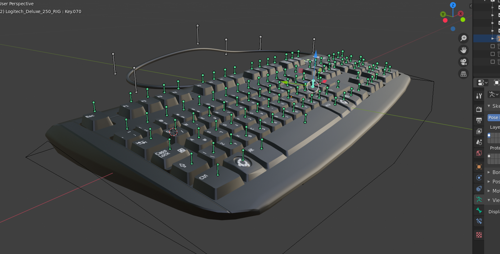Keyboard Logitech Deluxe 250 (Rigged) preview image
