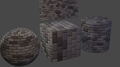 Procedural Stone Block Material preview image