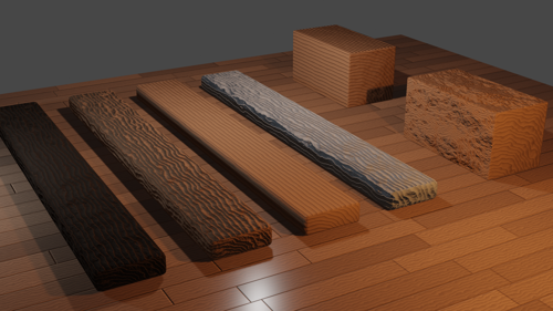 Procedural Wood Materials preview image