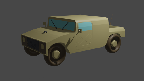 low poly jeep preview image