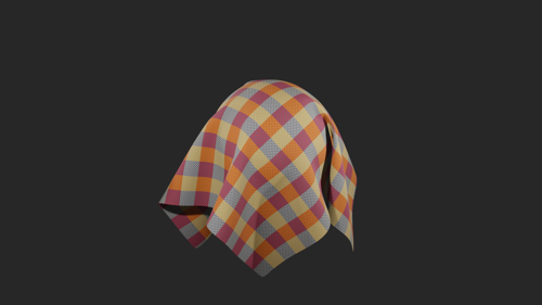 100% procedural cloth fiber tablecloth preview image