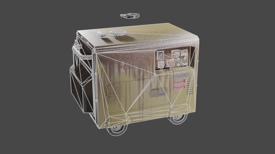 RUSTED GENERATOR (LOW-POLY)  preview image 2