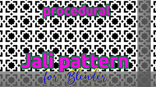 Procedural Jali Pattern preview image