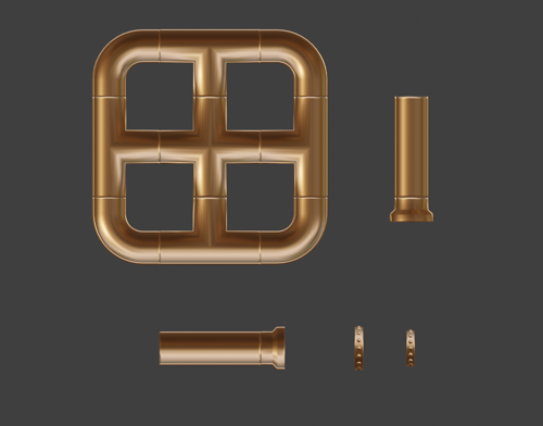 Brass pipes (half) preview image