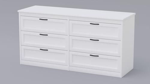 White Dresser With Fully Modelled Drawers preview image