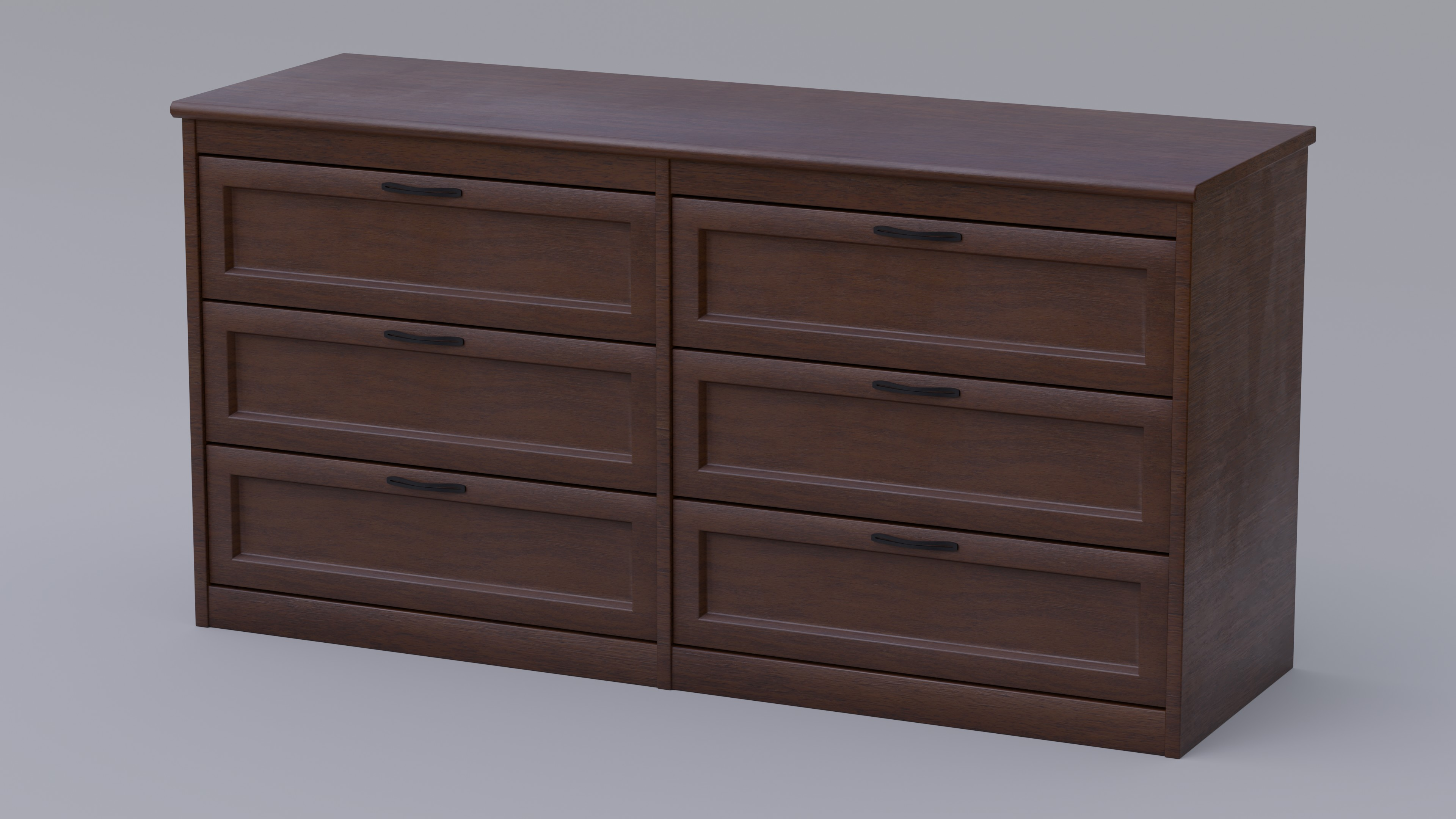 Dark Wood Dresser With Fully Modelled Drawers preview image 1