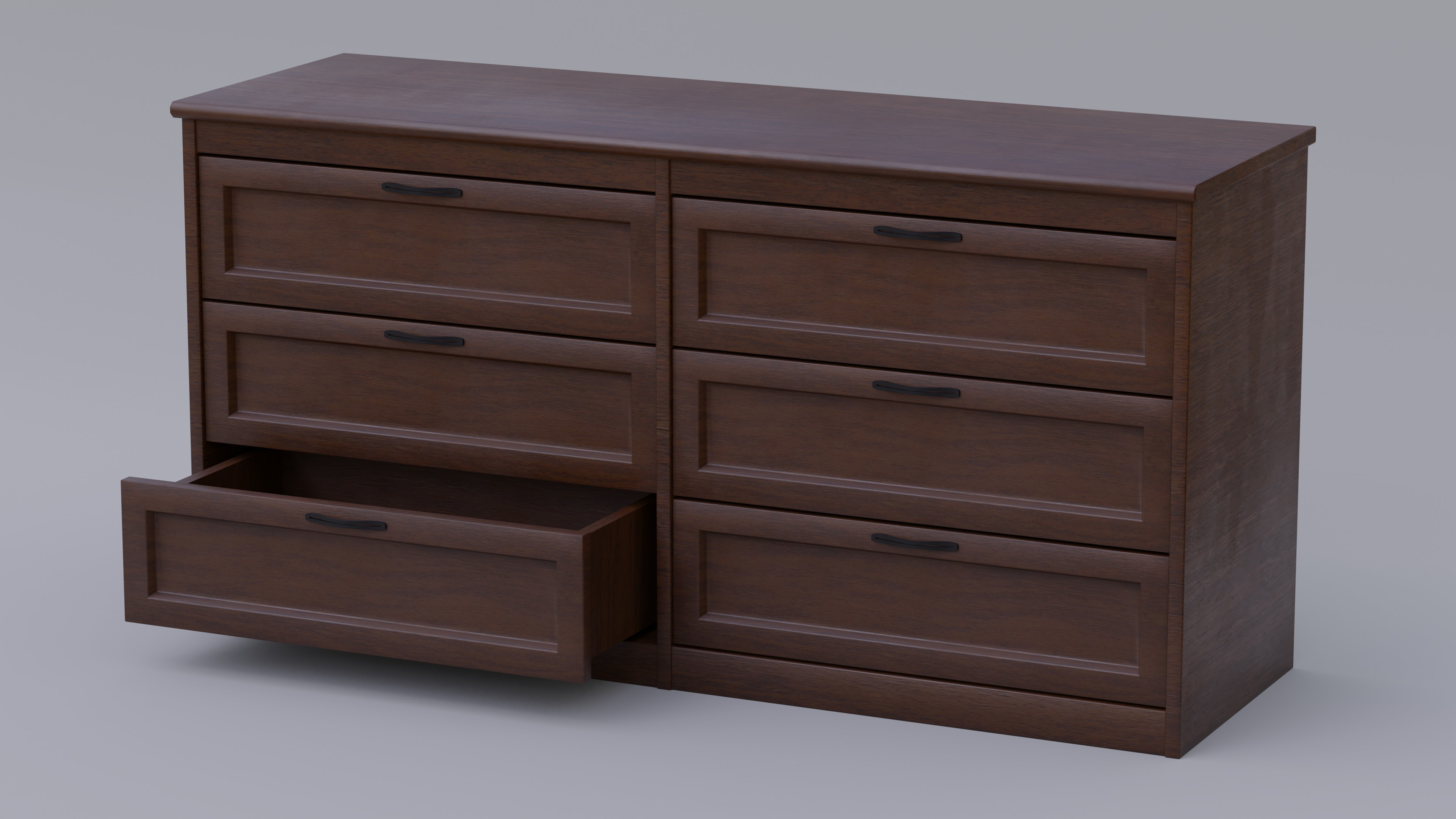Dark Wood Dresser With Fully Modelled Drawers preview image 2