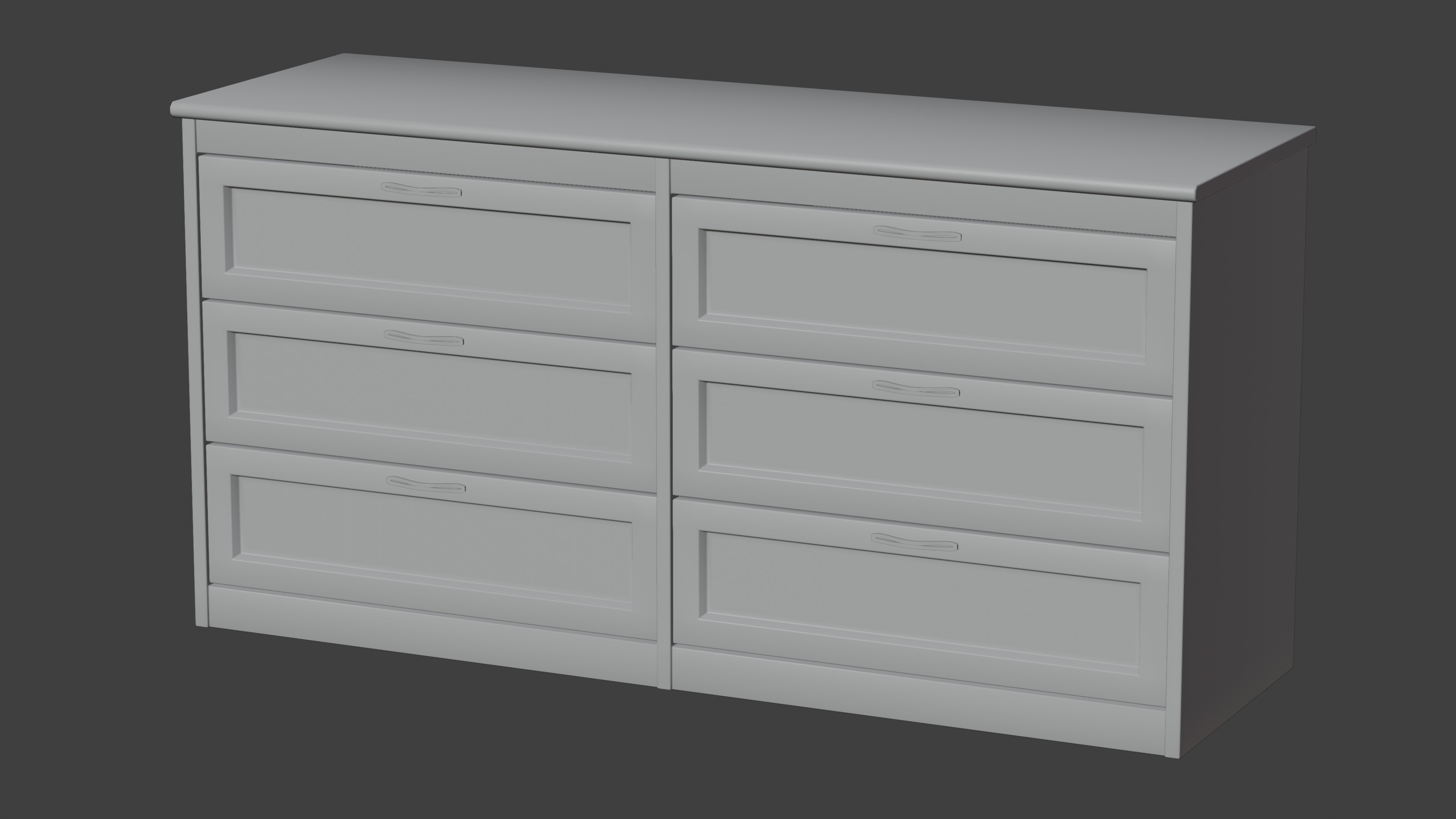 Dark Wood Dresser With Fully Modelled Drawers preview image 4