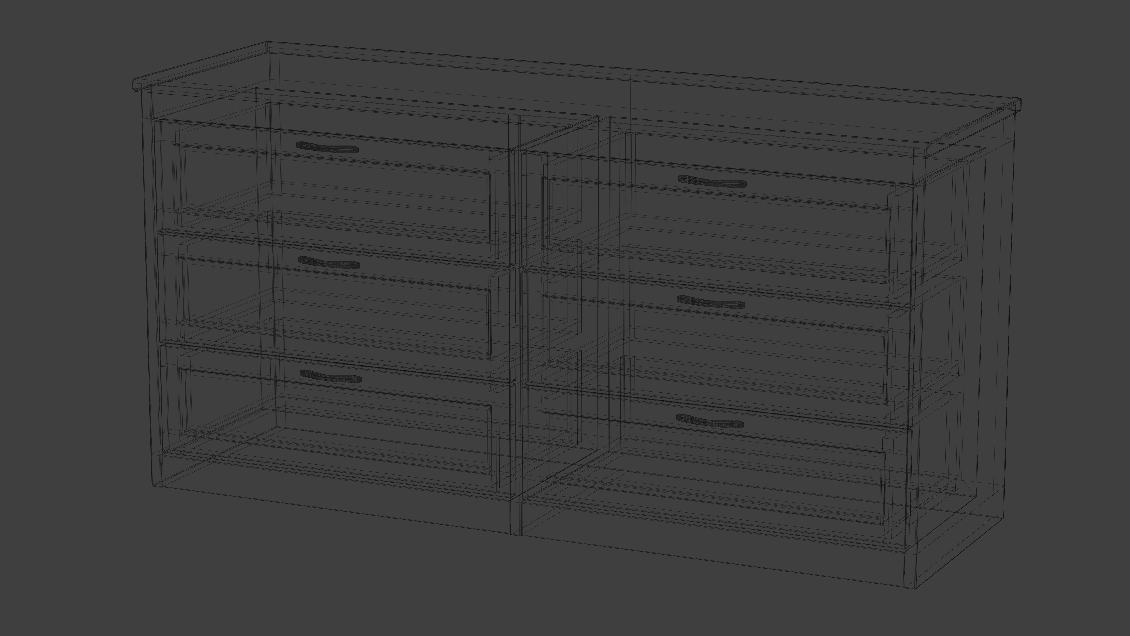 Dark Wood Dresser With Fully Modelled Drawers preview image 5