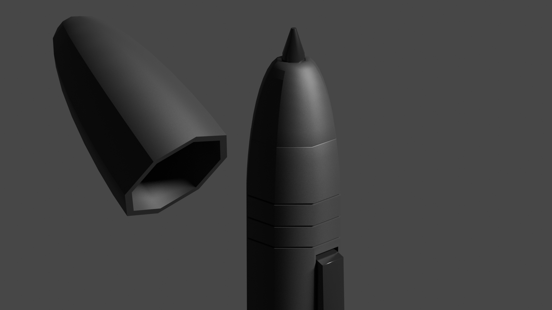 Graphical tablet Pen (Low Poly) preview image 2