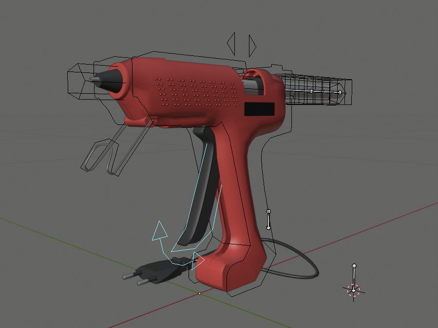 Glue Gun Zi 8002 (Rigged) preview image 1