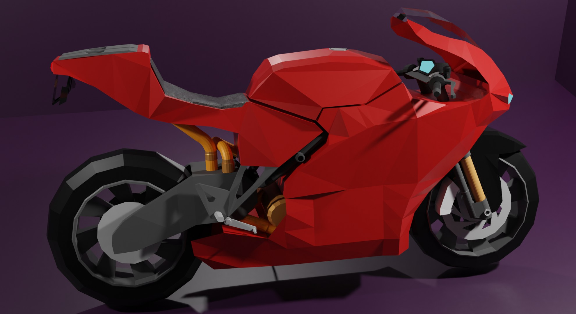 Low Poly Ducati Desmosedici rr preview image 2
