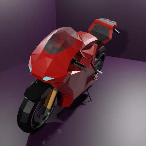 Low Poly Ducati Desmosedici rr preview image