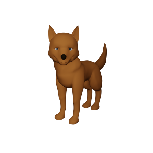 Dog model + textured + rigged + idle animation preview image