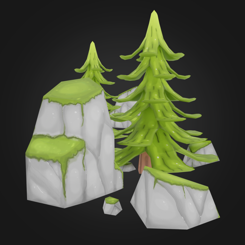 Hand Painted Forest Assets preview image