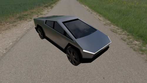 Tesla cybertruck preview image