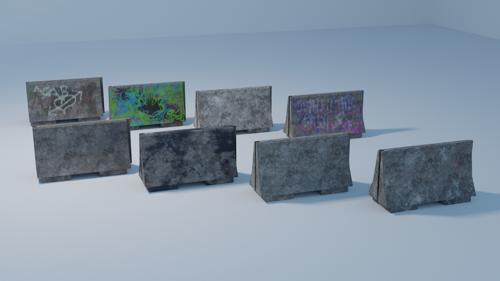 Concrete barriers preview image