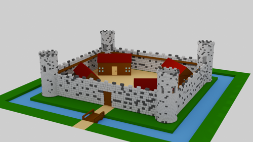 Low poly castle preview image