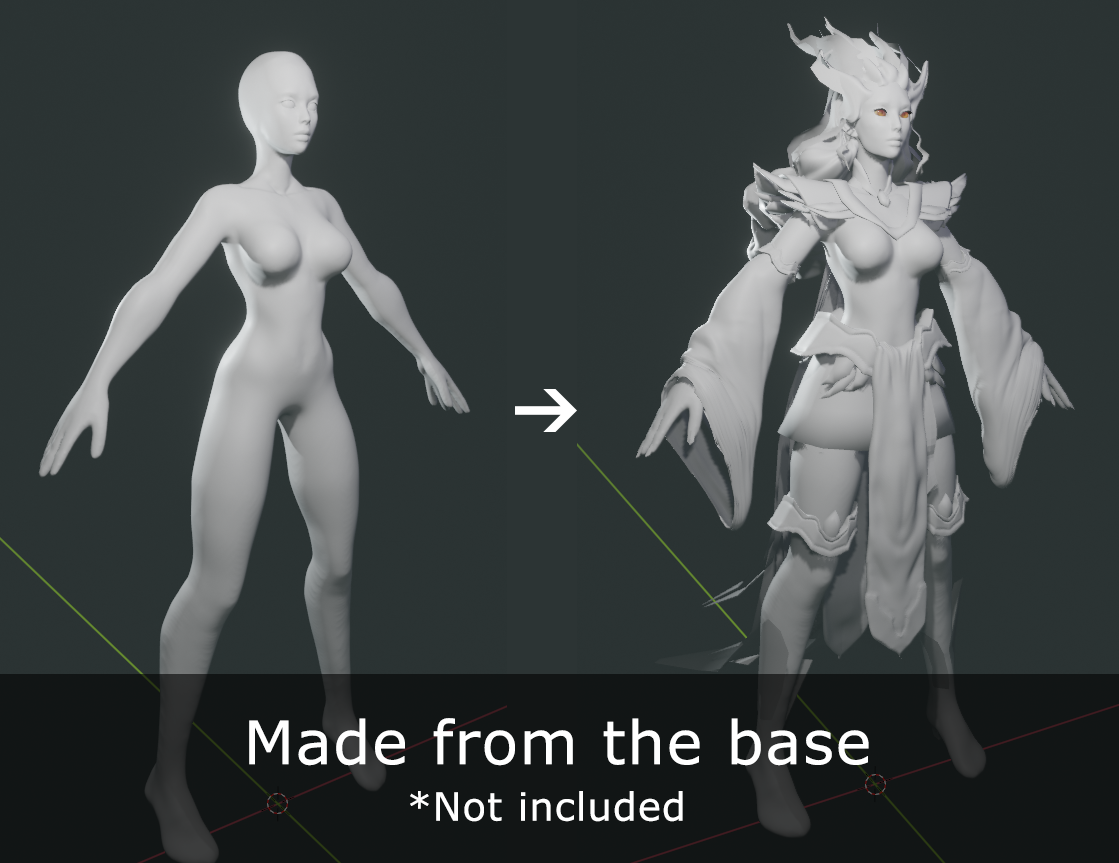 Female Basemesh for sculpting - UPDATED! preview image 3
