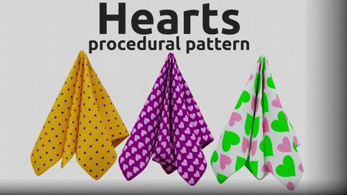 Procedural Hearts pattern preview image