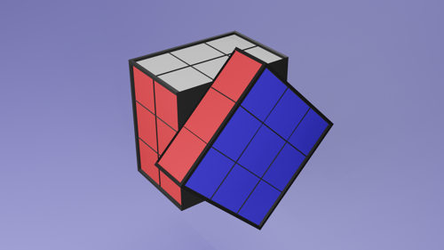 Real-Size 3x3 Rubik's Cube preview image