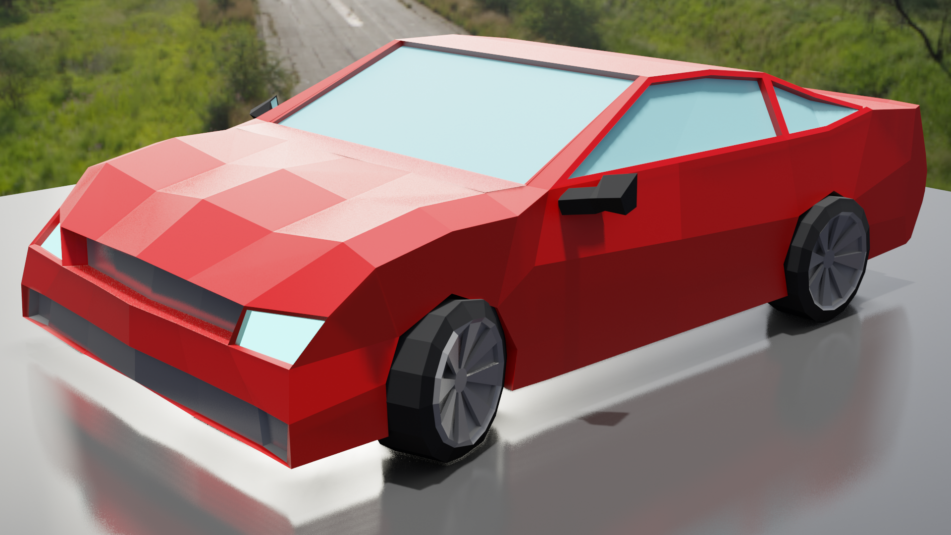 Low Poly Car preview image 1