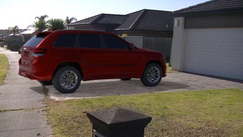 Jeep Cherokee with rig preview image