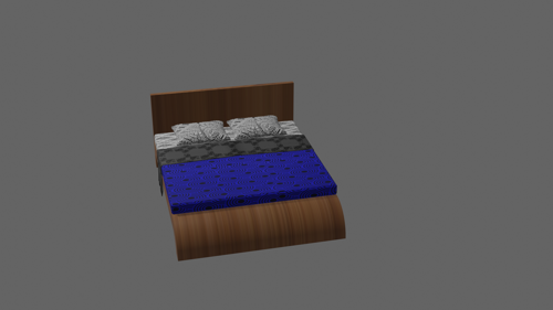 Modern bed preview image