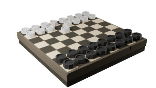 Low poly checkers preview image