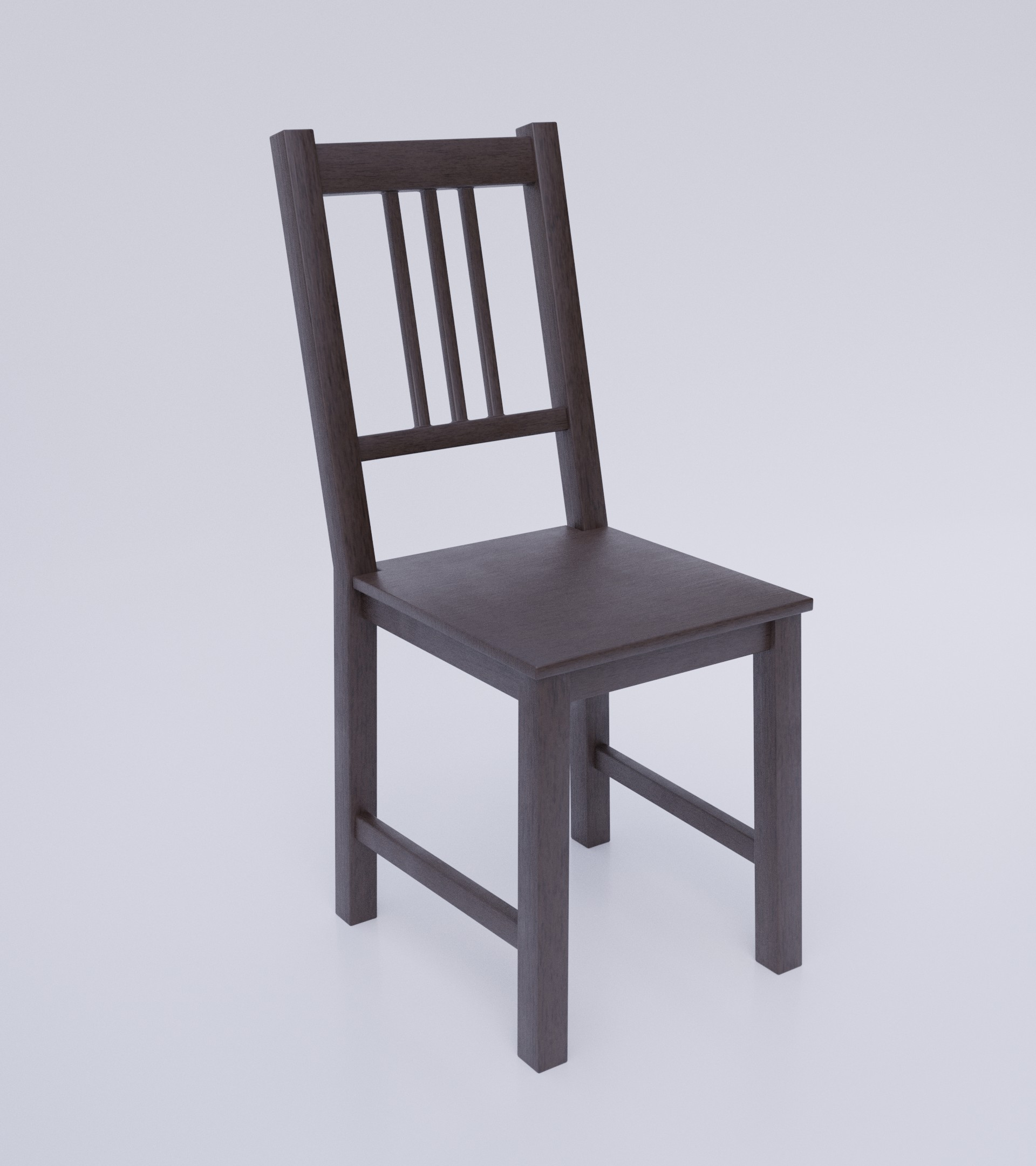 Simple Dark Wood Chair preview image 4