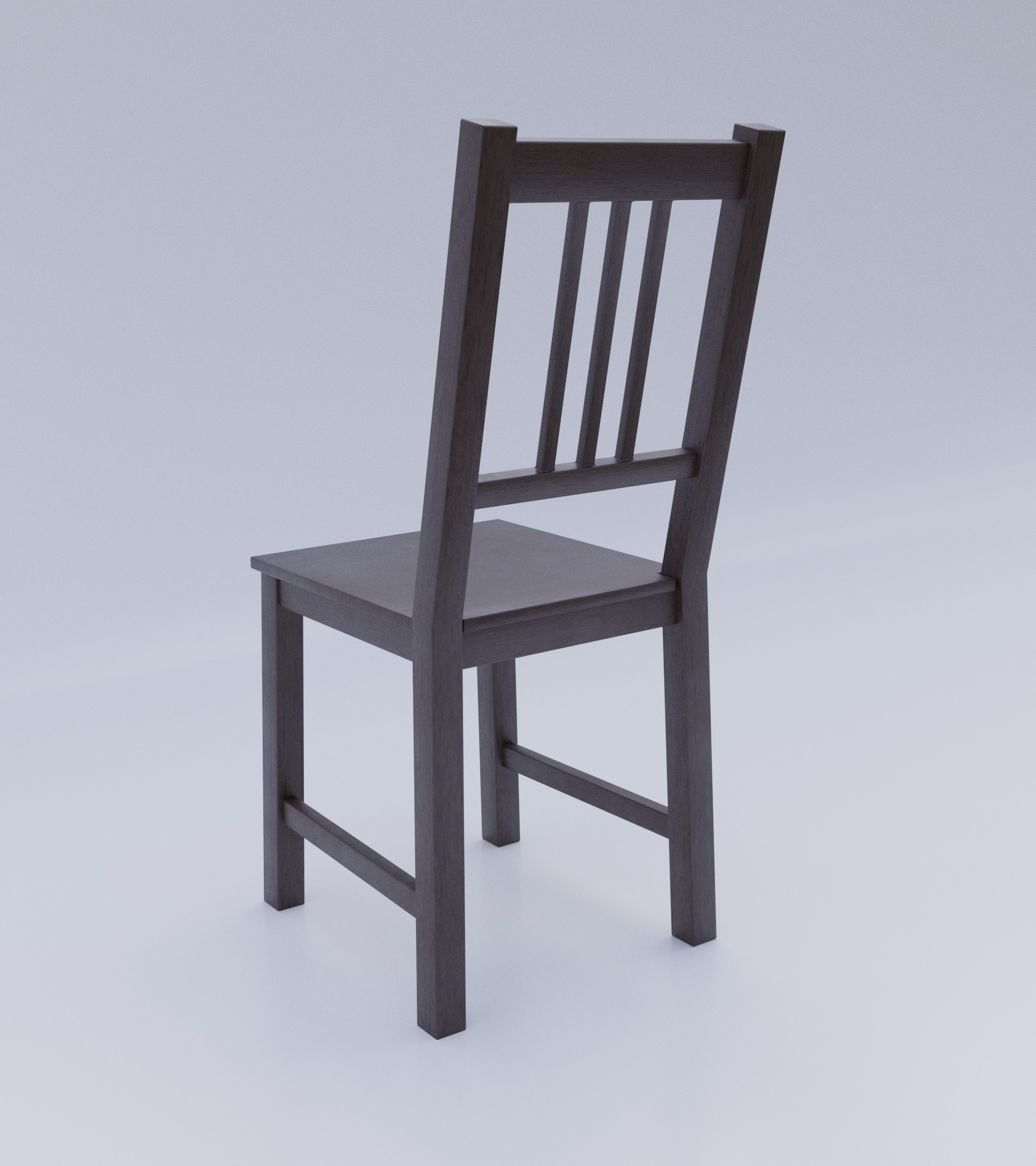 Simple Dark Wood Chair preview image 5