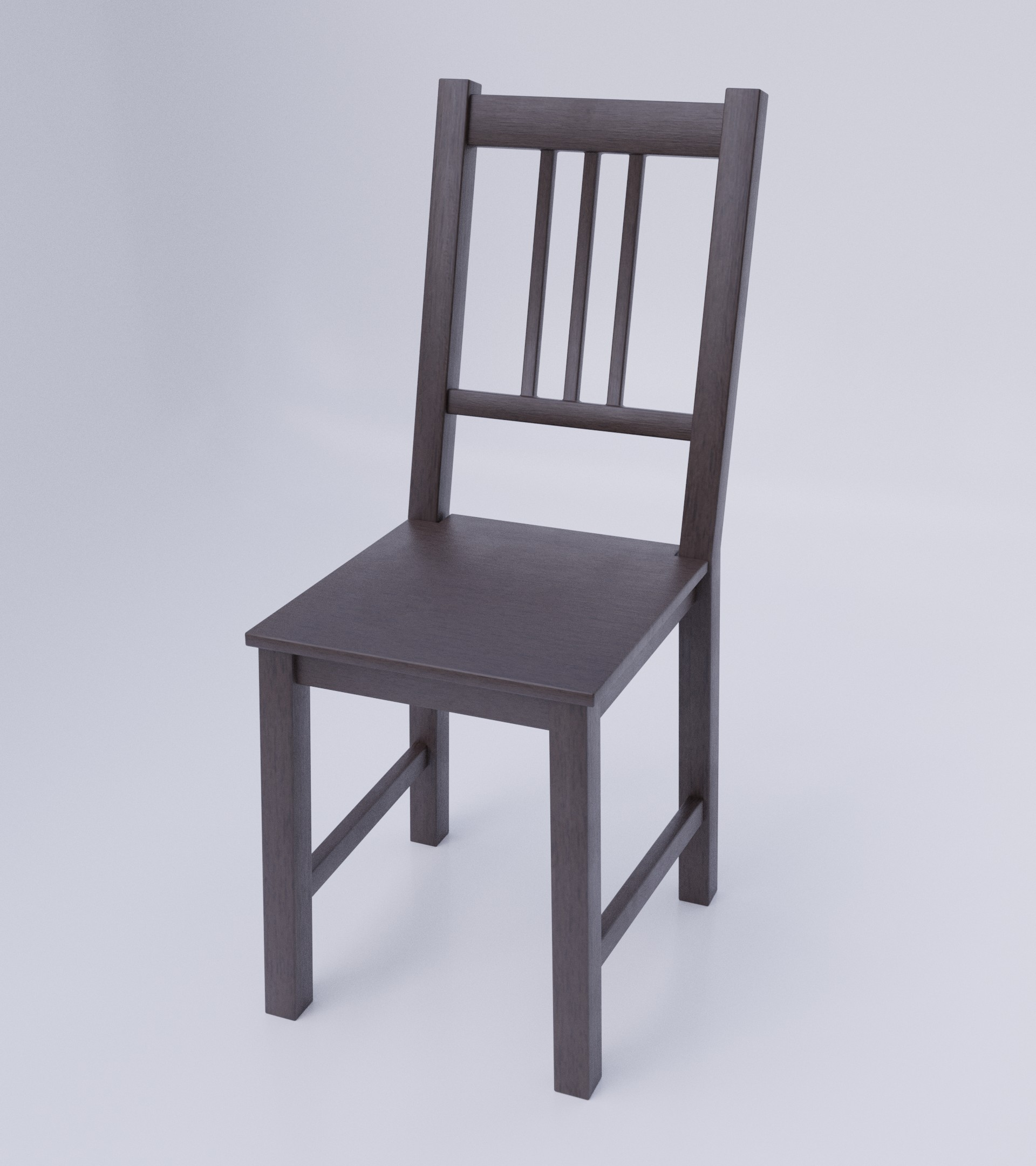 Simple Dark Wood Chair preview image 2