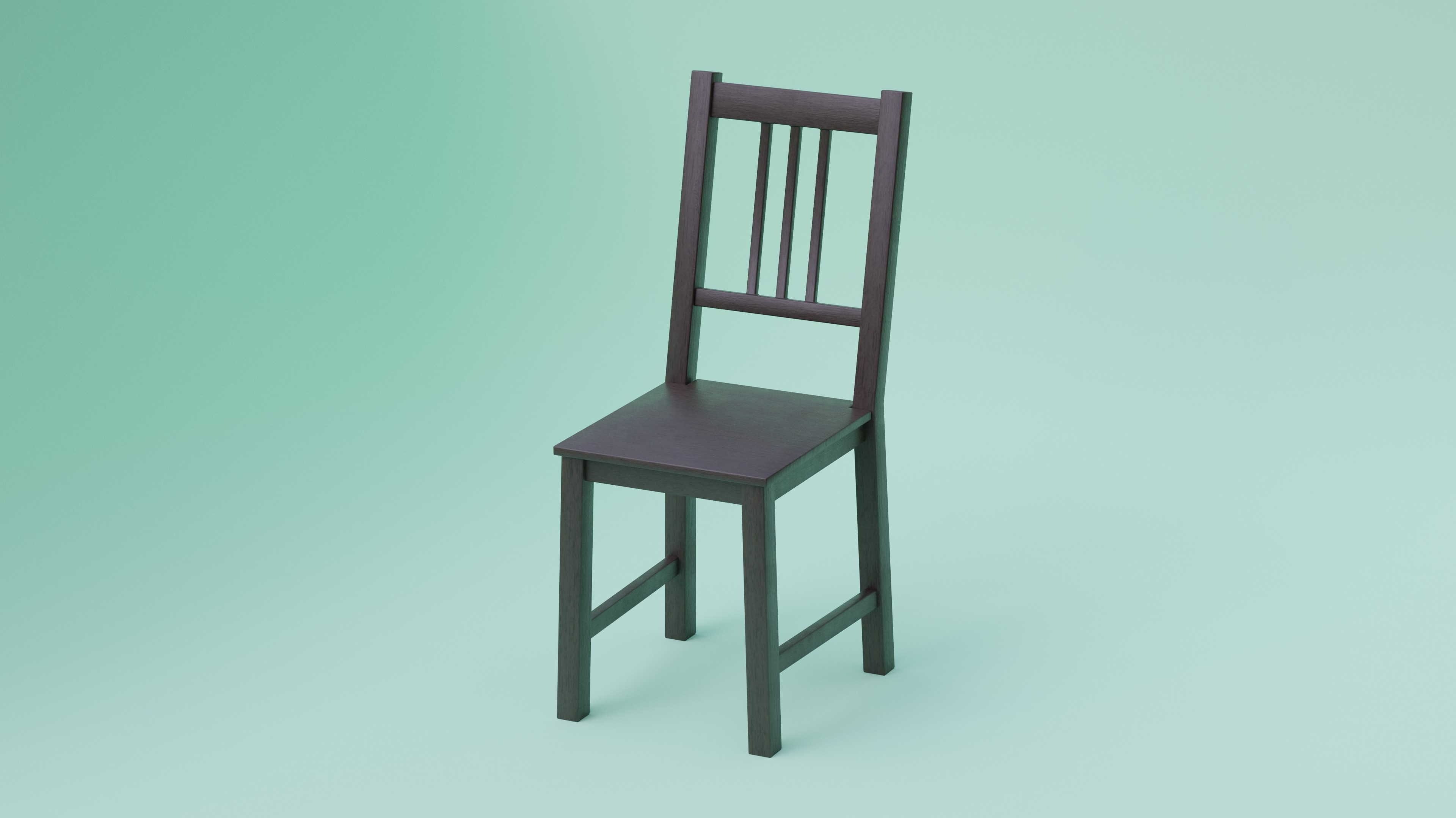 Simple Dark Wood Chair preview image 1