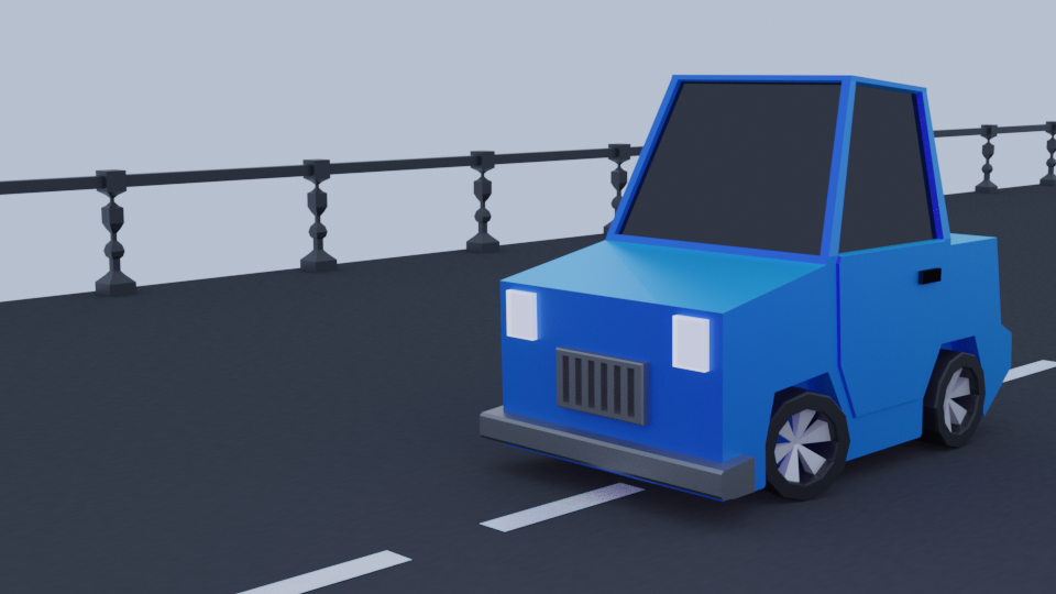 Minimal Low Poly Simple Car Model  preview image 1