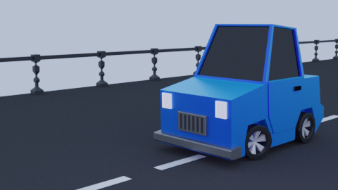 Minimal Low Poly Simple Car Model  preview image