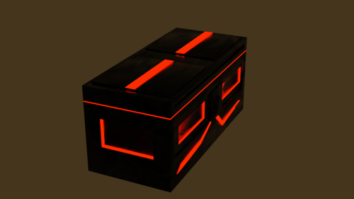 Simple SciFi crate preview image