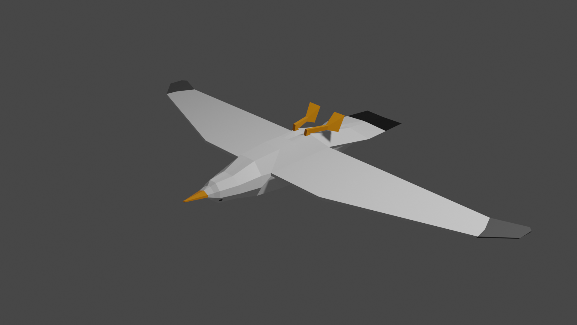 Seagull Low Poly preview image 2